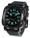 LUM-TEC G6 Men's Black/Blue Watch