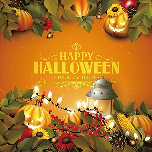 Yeele 10x10ft Happy Halloween Backdrop Night Special price Pump Grimace security Orange