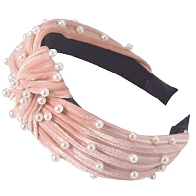 2020 Velvet Wide Headbands Knot Turban Headband...