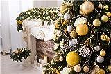 Accesorios de Fondo de fotografía de Navidad de Vinilo, Accesorios de Fondo de Estudio fotográfico con temática de tablones de Madera y Flores A4 7x5ft / 2,1x1,5 m