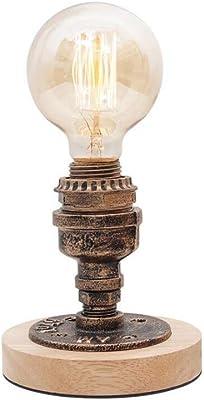 Modeen Vintage Industrial lámpara de Mesa Steampunk Mesa de ...
