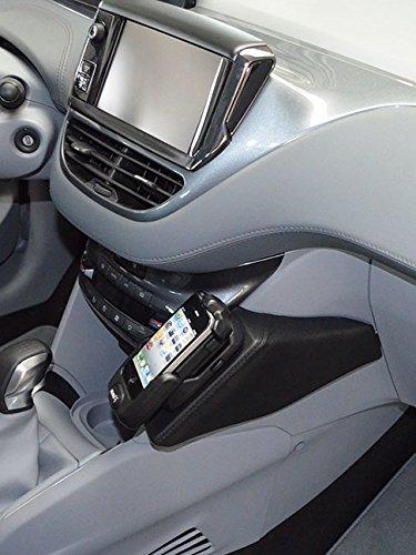KUDA 085275 Halterung Kunstleder schwarz für Peugeot 208/2008 ab 04/2012
