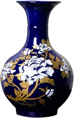 Black Temptation Vase à Fleur élégant, Vase en céramique pour la décoration, Salon et Bureau, 07
