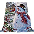 Singingin Ultra Soft Flannel Fleece Bed Blanket Happy Halloween Haunted Mansion Design Throw Blanket All Season Warm Fuzzy Light Weight Cozy Plush Blankets for Living Room/Bedroom