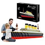DQY Titanic 3D Puzzles Model with 3800+ Pieces Mini Building Bricks, Boat Ship Model Assembly Game, Toy Gift for Adults and Teens