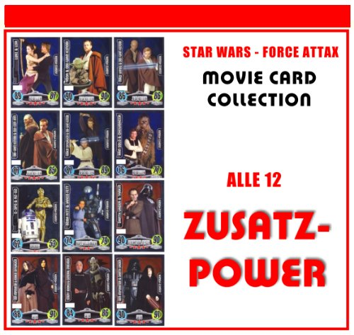 Star Wars Force Attax Serie – Movie Card Collection – Allemand – toutes les cartes 12 additifs Power