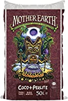 MOTHER EARTH Coco Plus Perlite Mix - For Indoor and Outdoor Container Gardens, Provides Strong Aeration & Drainage, 70%...