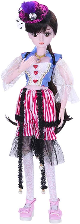 DHShop Gemeinsame Puppe, 1 3 SD Puppe 23,62 Zoll 19 Kugel Buchse Stecker Puppe DIY Spielzeug voller Satz von Kleidung Schuhe Perücke Make-up (mit Geschenkbox), Hochzeit Prinzessin Puppe, Mdchen