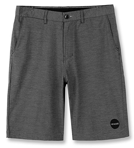 HETHCODE Men's Casual Classic Fit Hybrid Submersible Chino Walk Shorts Dark Shadow 30