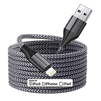 [MFi Certified] iPhone Charger 16ft 5M/16 Foot Extra Long iPhone Charger Cable Fast Charging Cord for Apple iPhone 11/11 Pro /11 Pro Max/XS/XS Max/XR/X/8/8 Plus/7/7 Plus/6/6 Plus/5/SE