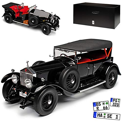 Kyosho Rolls-Royce Phantom I Cabrio mit Dach Schwarz 1925-1931 1/18 Modell Auto