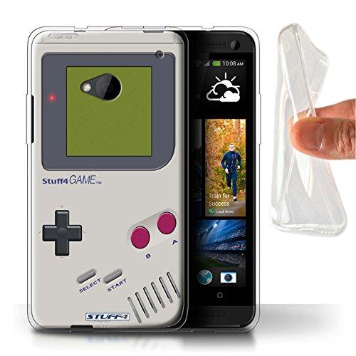 Hülle Für HTC One/1 M7 Spielkonsolen Nintendo Game Boy Design Transparent Dünn Flexibel Silikon Gel/TPU Schutz Handyhülle Case