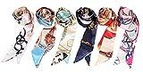Obosoyo 6pcs Fashion Bag Handbag Handle Ribbon Scarf Neckerchief Scarf Package Band Hair Head Decoration
