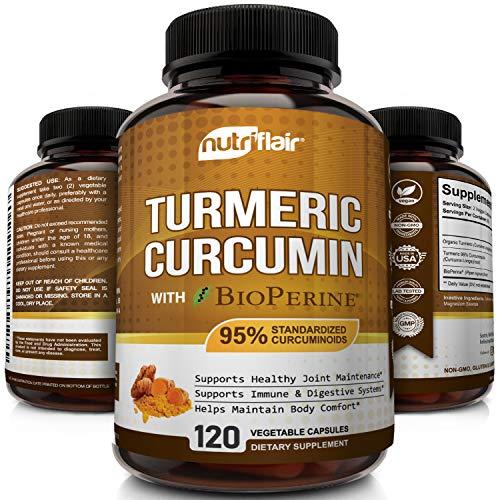 NutriFlair turmeric curcumin capsules