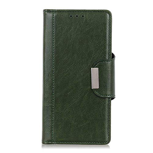 CAXPRO® Leder Hülle für Sony Xperia XA3 Ultra, Kratzfestes Tasche Sony Xperia XA3 Ultra PU Leder Flip Handyhülle Schutzhülle mit Kartenfach und Standfunktion, Grün