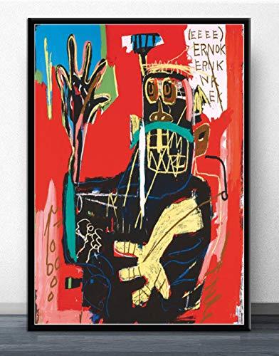 Flduod JeanGraffiti Künstler Malerei Poster und Drucke Moderne Leinwand Wandkunst Bild für Wohnzimmer Home Decoration-No Frame 30x40cm
