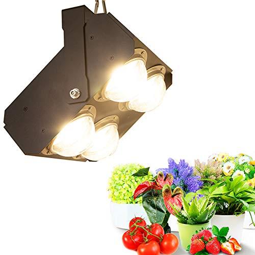 Pflanzenlampen LED Vollspektrum COB LED Pflanzenlampe 400W Pflanzenleuchte Sonnenlicht mit Großem Kühlkörper&BlackSun Kühllack für Garten Gewächshaus Zimmerpflanzen, Blüte, Blumen, Gemüse