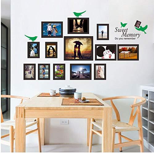hfwh Muurtattoo - Lege fotolijsten opslag foto muur huis decoratie PVC Muursticker voor kinderkamer 45x60cmx2pcs