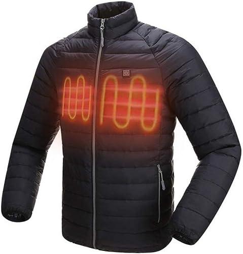 AUTcourir Coupe-Vent d'hiver en Fibre de voiturebone électrique pour Hommes avec Veste chauffante extérieure chauffée pour Femmes
