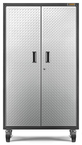 Gladiator GALG36CKXG Ready-To-Assemble Mobile Storage Cabinet 36 W x 66 H x 18 D Steel Garage Cabinet