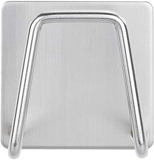 WENKO Universele houder Edea voor de keuken - sponshouder, roestvrij staal, 5 x 5 x 3,5 cm, mat zilver