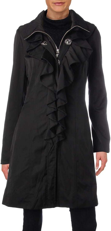 Elie Tahari Womens Spring Ruffled Jacket
