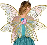 amscan Adult Mythical Glitter Gold Fairy Wings, Multicolor, One Size