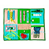 Fidget Blanket Sensory Pad with Activities for Toddlers and Elderly, Aids in Therapy of Children with Autism and Seniors with Alzheimers and Dementia