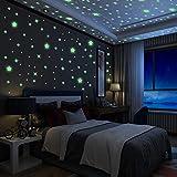 Yosemy Luminoso Pegatinas de Pared Estrellas Fluorescente Pegatinas de Estrellas Decoración de Dormitorio de Niños, DIY Decoración de la Habitación Para Chico Niña Bebé Casa Interior Mural, 6 Pzas