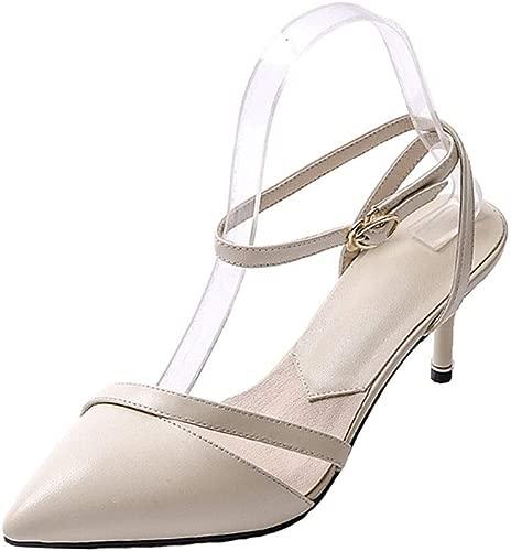 MKJPO Sandalen Komfortable und atmungsaktive Brautjungfer Schuhe Einzelne Schuhe Damenschuhe (Farbe   A, Größe   36 EU)