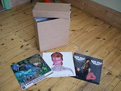 """LP +12"""" SINGLE STORAGE BOX x1 BROWN - super strength- - EACH HOLDS 40-50 RECORDS!"""