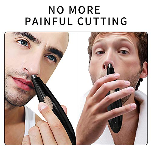 Nose Trimmer Ear Hair Trimmer for Men Women Rechargeable Professional Grooming Waterproof Wet Dry Use Washable Black