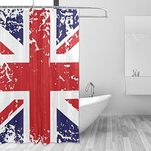 Bennigiry Retro Union Jack UK Flagge Polyester Stoff Vorhang für die Dusche 152,4x 182,9cm, Mehltau...