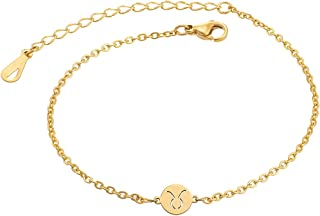 Zodiac Anklets Astrology Gifts for Women Girls
