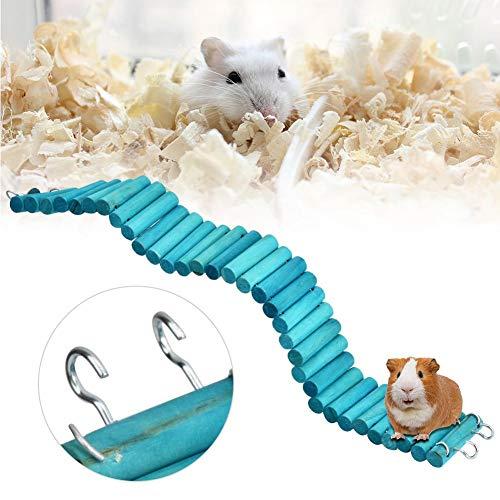 Pssopp Hamster Leiter Natürliche Holz Spielzeug Leiter Brücke Hamsterleiter hölzerne Hängebrücke Haustier Hängeleiter für Hamster Papagei Vogel