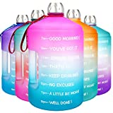 BuildLife 1 Gallon Water Bottle Motivational Fitness Workout with Time...