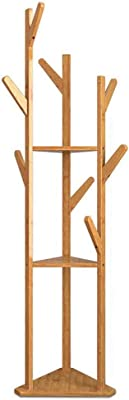 Amazon.com: TY BEI Coat Rack Wooden Coat Rack,Full-Length ...