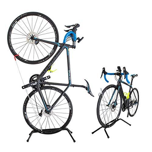 GORIX(ゴリックス) 自転車 スタンド 倒れない 縦置き 屋内 SJ-518 (ブラック)