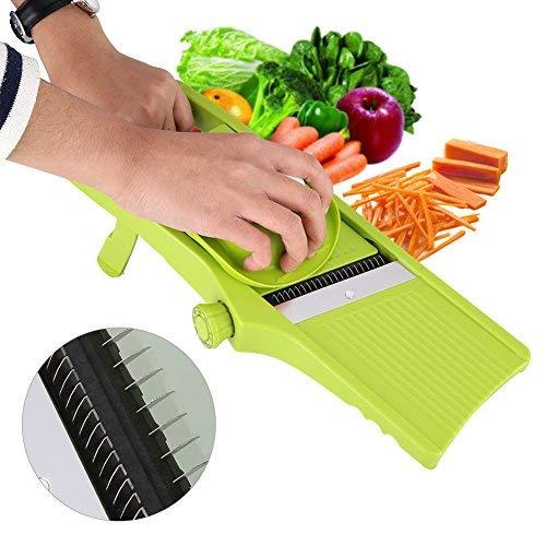 Adjustable Mandoline Slicer, Acogedor Vegetable Slicer, Multi-Function Food Slicer Fruit and Cheese Cutter. Best For Slicing Food, Fruit and Vegetables. Professional Grade Julienne Slicer.