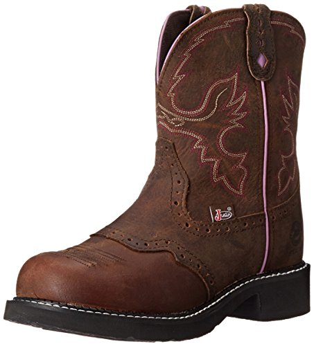 "Justin Boots Women's Gypsy Collection 8"" Steel Toe,Aged Bark,8.5B"