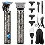 Professional Cordless Hair Trimmer, 2021 New Pynogeez 0mm Baldheaded Hair Clipper T-Blade Hair Clipper for Men Electric Pro Li Outline Trimmer Grooming Kit Zero Gapped Detail Beard Shaver Barbershop