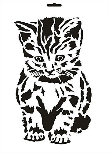 UMR-Design W-044 Cat Wand/Textilschablone Grösse A5