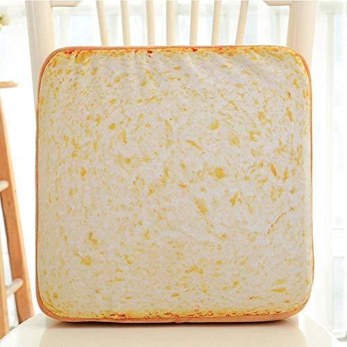 Skysep Almohadas Decorativa Almohadas Personalised Creativo Pan Tostado Cojín Relleno Esponja Suave Tacto Oculto Cremallera Delicada Decoración
