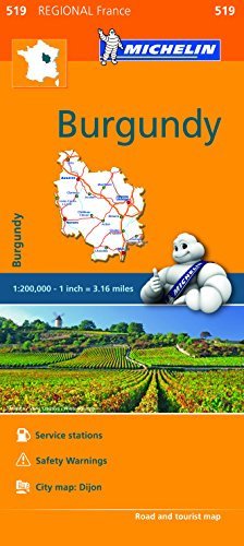 Burgundy - Michelin Regional Map 519 (Michelin Regional France, Band 519)