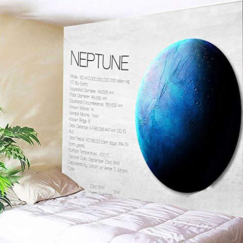 Scrolor Tapestry Gobelin Wandbild Büro Wandbehang für Schulbibliothek Studio Dekoration Wissenschaftliches Universum Saturn Planet Pattern Design 150X200cm(Blau 2,150X200cm)
