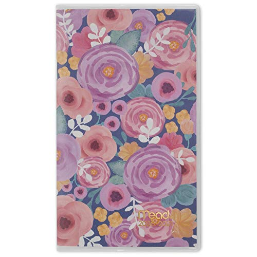 Mead 2020-2021 Monthly Pocket Planner, 2 Year, 3-1/2' x 6-1/4', Pocket Calendar, Caprice, All Over Floral (1319-021)