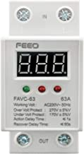 FEEO 63A Voltage Monitoring Relay with automatic under and over voltage cutoff and reconnect