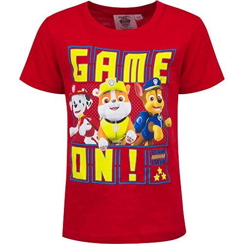 Paw Patrol Jungen T-Shirt Kurzarm Rot 104