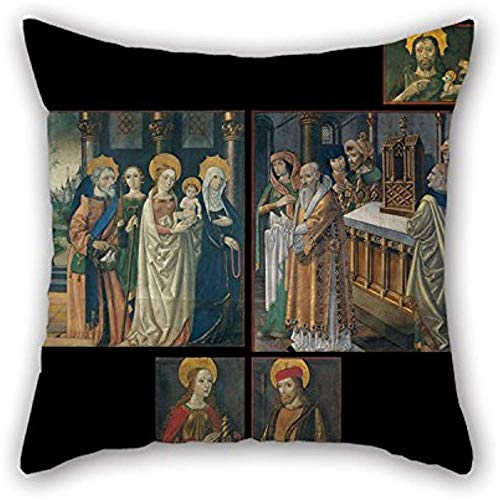 Pintura al óleo Maestro de La Seu D 'Urgell - Pinturas de las puertas del órgano de La Seu D' Urgell Catedral Almohadas fundas para adolescentes Niñas, parientes, salón,