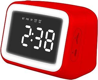 B Blesiya LED gece lambası aynası ekran Bluetooth - kırmızı